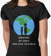 Dreams and Goals Womens Fitted T-Shirt