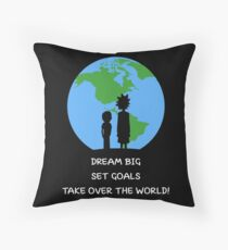 Dreams and Goals Throw Pillow