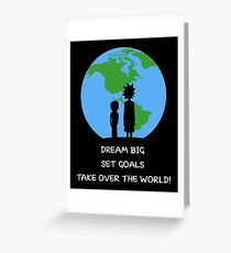 Dreams and Goals Greeting Card