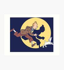Tintin & Snowy Art Print