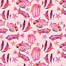 Soft pink underwater fish scenery by artsandsoul