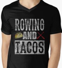 Rowing and Tacos Funny Taco Distressed T-Shirt