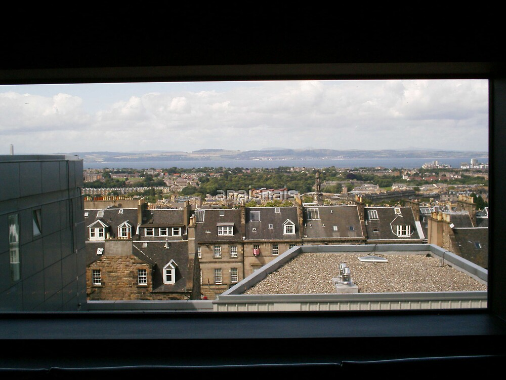 View over Edinburgh from the bar area in Harvey Nichols by anaisnais