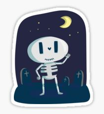 Skeleton cute bone halloween happy holiday october fun tomb halloween Sticker
