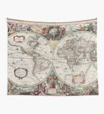 Vintage Maps Of The World  Wall Tapestry