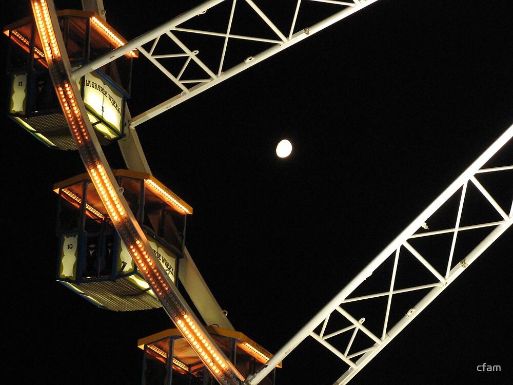 Moon thru the Wheel by cfam