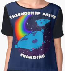Friendship Drive Charging Chiffon Top