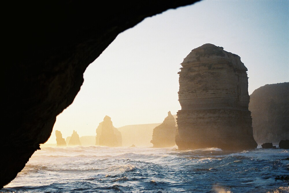 Twelve Apostles from Beach by Alwyn Hanson
