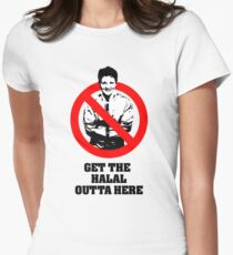 Get the Halal Outta Here Womens Fitted T-Shirt