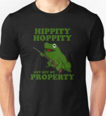 Hippity Hoppity Get Off My Property ,Frog Meme T-Shirt
