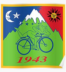 Hofmann's Bike Ride T-shirt Print Poster