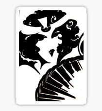 art deco mirror op art flapper black white mod Jacqueline Mcculloch Sticker