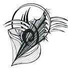 KELKIRK ST. B&W symbolic by Lesley A Marsh