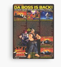 DA BOSS. Canvas Print