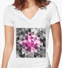 Abstract geometric Background #4 Women's Fitted V-Neck T-Shirt