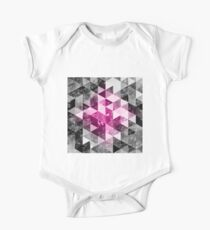 Abstract geometric Background #4 One Piece - Short Sleeve