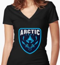 Arctic Fury Logo Women's Fitted V-Neck T-Shirt