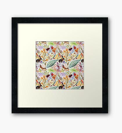 Vegetable Garden Party Framed Print