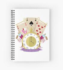 Inspirerd by Alice in Wonderland Spiral Notebook