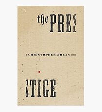 THE PRESTIGE / alternative typographic movie poster Photographic Print