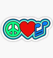 Music Love Peace Sticker
