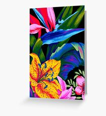 Lets Go Abstract Greeting Card
