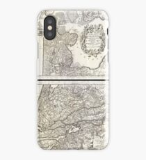 Antique Map - Coronelli's Netherlands (1690) iPhone Case/Skin