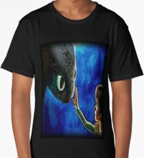 Hiccup And Toothless The Black Night Fury Dragon Long T-Shirt