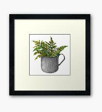 Mug with fern leaves Framed Print