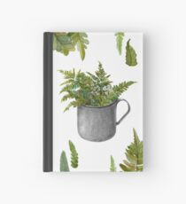 Mug with fern leaves Hardcover Journal