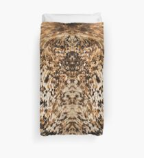 Rustic Chic Country Western Long Horn Cowhide Fur Prints Duvet Cover