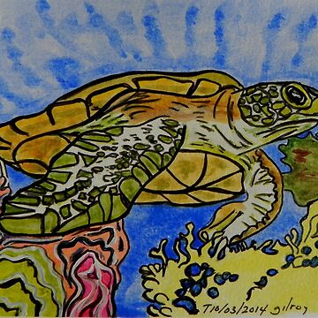 Sea Turtle Art ... t36 by whiteygilroy