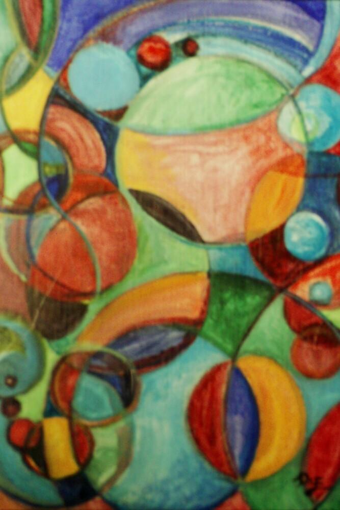 Molecular #1 (Acrylics)- by Robert Dye
