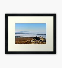 Sleivenamon from the summit of Brandon Hill, Counties Tipperary and Kilkenny, Ireland Framed Print