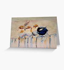 Superb Fairy Wren - Baby Love Series Greeting Card