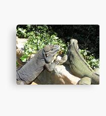 "THINK LIZARDS: ""The Proposal...Lizards in Love"" Canvas Print"