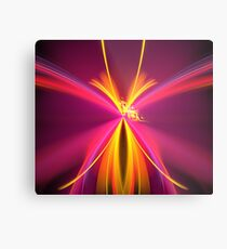 Pink Butterfly Wish Metal Print