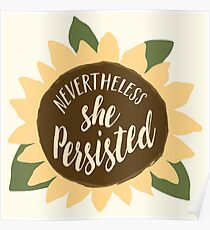 """Nevertheless She Persisted"" Poster"