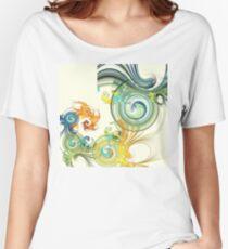 Peacock Swirls Women's Relaxed Fit T-Shirt
