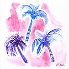 Pink Palm Trees by Ekaterina Chernova