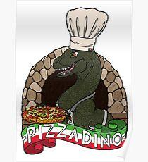 Pizza Dino Poster