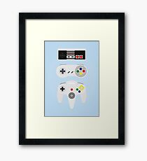 Video controllers Framed Print