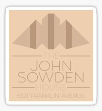 The John Sowden House - Logo and Wordmark Sticker