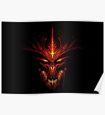 Evil Fire Dragon Design Poster
