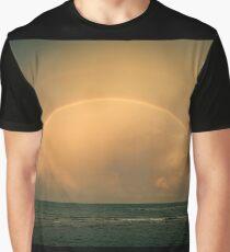 Double Rainbow on the ocean - Doppel Regenbogen am Meer Graphic T-Shirt