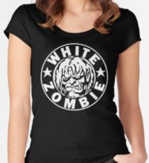 White Zombie (White) Women's Fitted Scoop T-Shirt