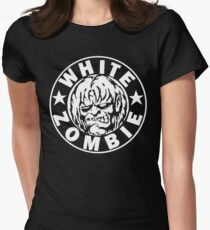 White Zombie (White) Women's Fitted T-Shirt