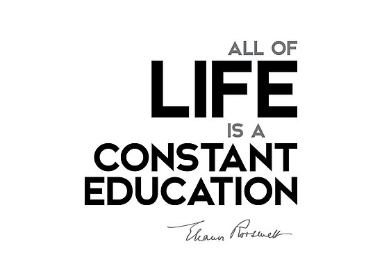 all of life is a constant education - eleanor roosevelt by razvandrc