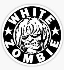 White Zombie (Black) Sticker