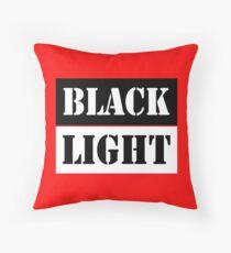 Black light red Throw Pillow